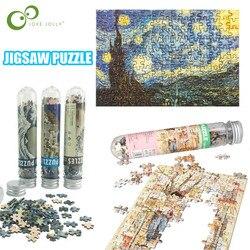 150Pcs Tube Mini Papier Puzzels Game Speelgoed voor Kinderen Volwassenen Leren Educatief Speelgoed Brain Teaser Monteren Speelgoed Games Jigsaw GYH