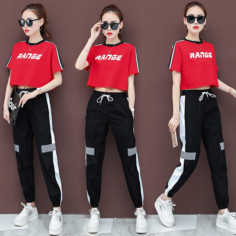 Square Ghost Step Dance Clothing Women's New Style Fashion Sports Clothing Shuffling Clothes Group Clothes Leisure Suit