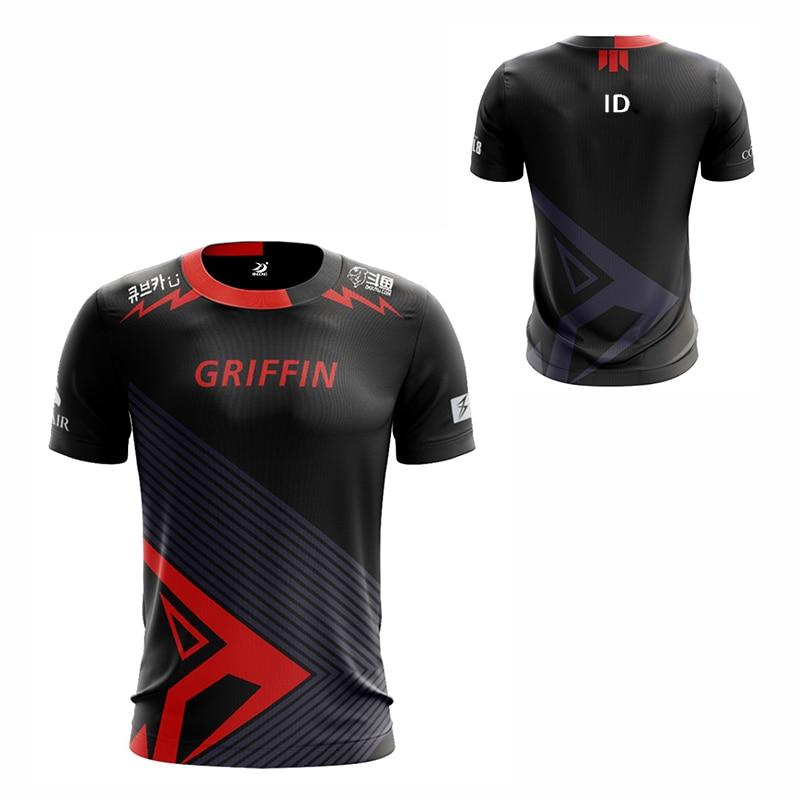 LOL LCK Griffin Play Jersey Uniform Chovy Fans T-shirt Men Women T shirts GRF Team Custom ID Tee Shirt Korea