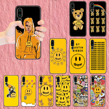 Justin Bieber drew Phone case For Huawei P Mate P10 P20 P30 P40 10 20 Smart Z Pro Lite 2019 black tpu funda art shell soft cover image