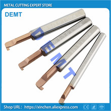 Grooving Knife Lathe Nano-Coating Hole-Tool Overall-Carbide New CNC 2mm 1mm HRC60 Small-Diameter
