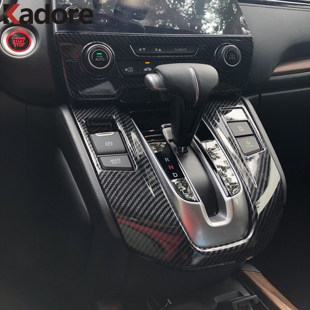 Carbon fiber Style Interior Console Dash Panel Frame Trim FOR HONDA CRV 2017-18
