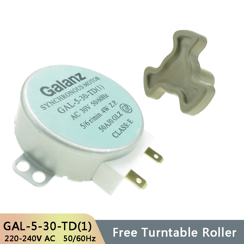 GAL-5-30-TD(1) AC30V 50/60Hz Micro Turntable Synchronous Tray Motor Microwave Oven Accessories Spares Parts Core Coupling Clutch