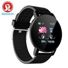Shaolin 19 inteligente pulseira de freqüência cardíaca relógio inteligente homem pulseira esporte relógios banda à prova dwaterproof água smartwatch android com despertador