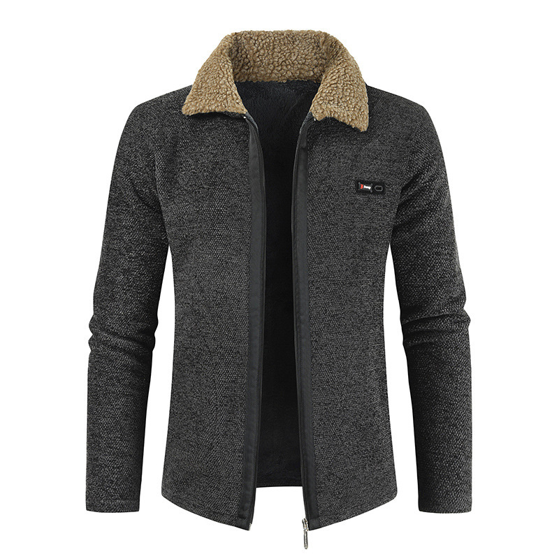 Image 4 - NEGIZBER 2019 Winter Mens Coat and Jackets Solid Slim Fit Thick  Fur Wool Coats Men Fashion Warm Mens Cashmere Jacket  StreetwearJackets
