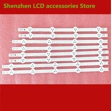 8 PCS/set LED backlight strip bar for LG 37LN Array 37LN541U 6916L 1137A 6916L 1138A 6916L 1139A 6916L 1140A   copper