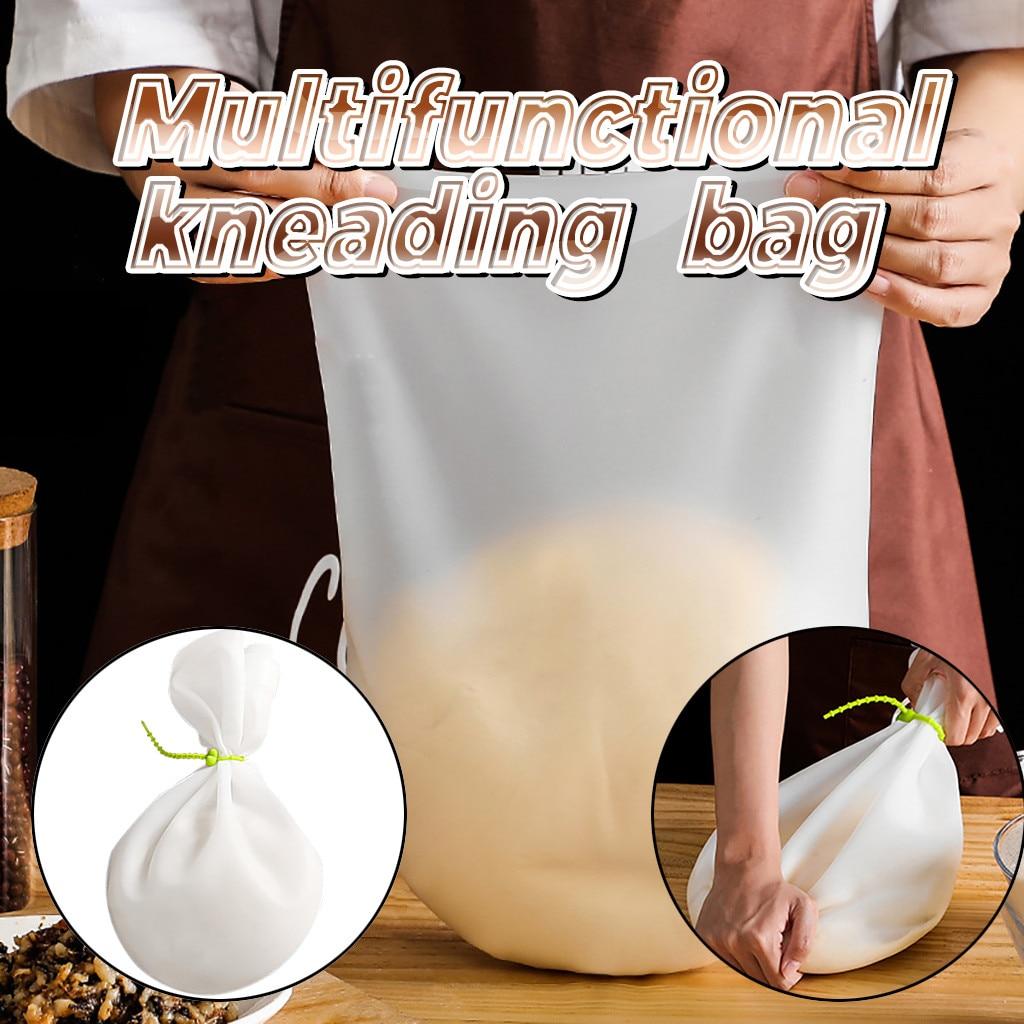Пищевой силиконовый мешочек для теста, мешочек для смешивания муки, силиконовые мешочки для сохранения, кухонный инструмент для выпечки, ку...