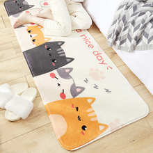 Cartoon Animals Bedroom Bedside Long Strip Mats Living Room Foot Pad Doormat Rugs Kitchen Carpet Balcony Thick Plush Comfortable