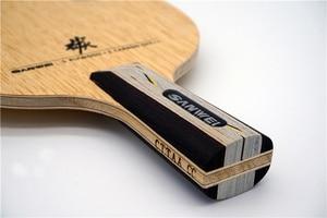 Image 4 - SANWEI CC karbon (5 + 2 karbon, ücretsiz çanta ve kenar bandı) SANWEI masa tenisi Blade/raket orijinal SANWEI Ping Pong yarasa/kürek