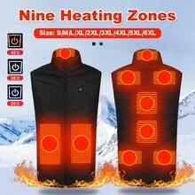Новинка, для возраста от 9 мест жилет топления длинноволновой части USB нагретой куртки отопление жилет Для мужчин зимние chaleco велосипеда Для ...