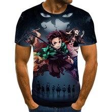2021 Kimetsu No Yaiba Theme Men's T-shirt Anime Harajuku Tops Summer Fashion T-shirt Men's 3D Boy Clothing Plus Size Streetwear