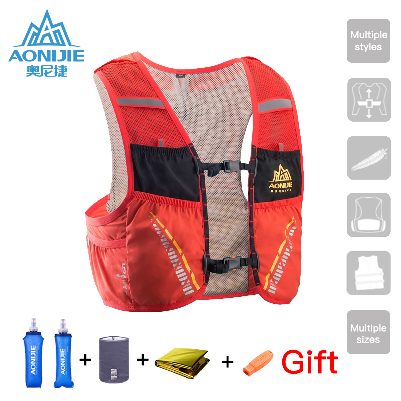 AONIJIE Hydration Pack Backpack Rucksack Bag Vest Harness Water Climbing 2.5L Bladder Hiking Camping Running Marathon Race C932