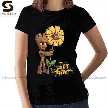 Groot T-Shirt Guardians Of The Galaxy T Shirt Short Sleeve Street Fashion Women tshirt XXL Ladies Tee Shirt