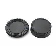 50 pares de câmera tampa do corpo + lente traseira tampa capa protetor para nik & n slr/dslr