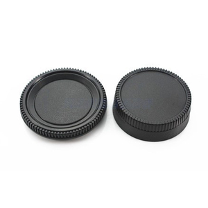 Image 1 - 50Pairs camera Body cap + Rear Lens Cap Hood Protector voor nik & n SLR/DSLR