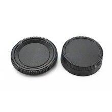 Nik & n slr/dslr 용 50 쌍 카메라 바디 캡 + 후면 렌즈 캡 후드 프로텍터