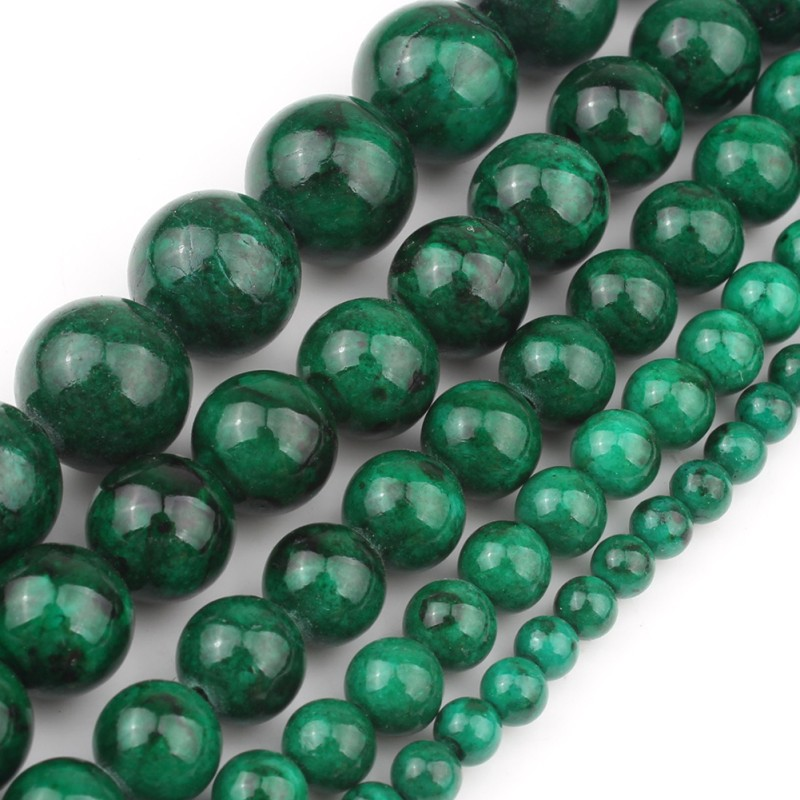 4MM Natural Faceted Jade //Amethyst //Emerald Round Gemstone Loose Beads 15/'/' AAA