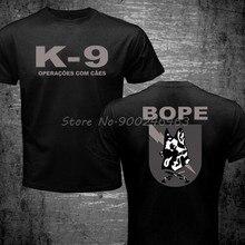 Novo brasil swat bope forças especiais polícia K-9 cão canino canil unidade tshirt engraçado algodão casual camiseta superior impresso t camisa