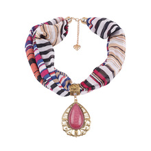 jewelry necklaces scarves womens clothing with decorative scarf drops of ethnic style pendant