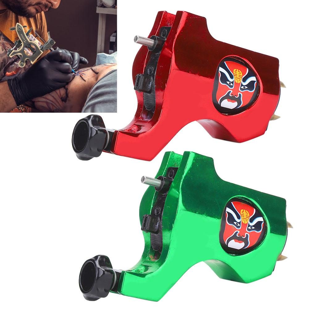 Peking Opera Mask Rotary Tattoo Machine Strong Motor Gun Liner Shader Coloring Fashion Tattoo Gun Hook Interface Bishop Style