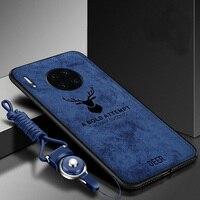 Funda de TPU suave y tela dura para Huawei Y9A, con cordón, funda trasera protectora, y9a