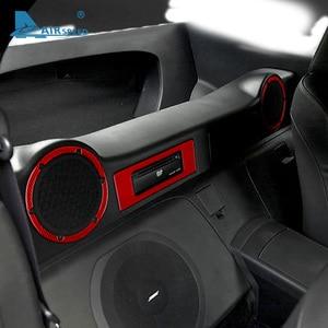 Image 3 - FLUGGESCHWINDIGKEIT für Nissan 350Z 2006 2009 Zubehör Carbon Fiber Innen Trim Auto Seite Hinten Lagerung Zurück Handschuh Box Lautsprecher aufkleber