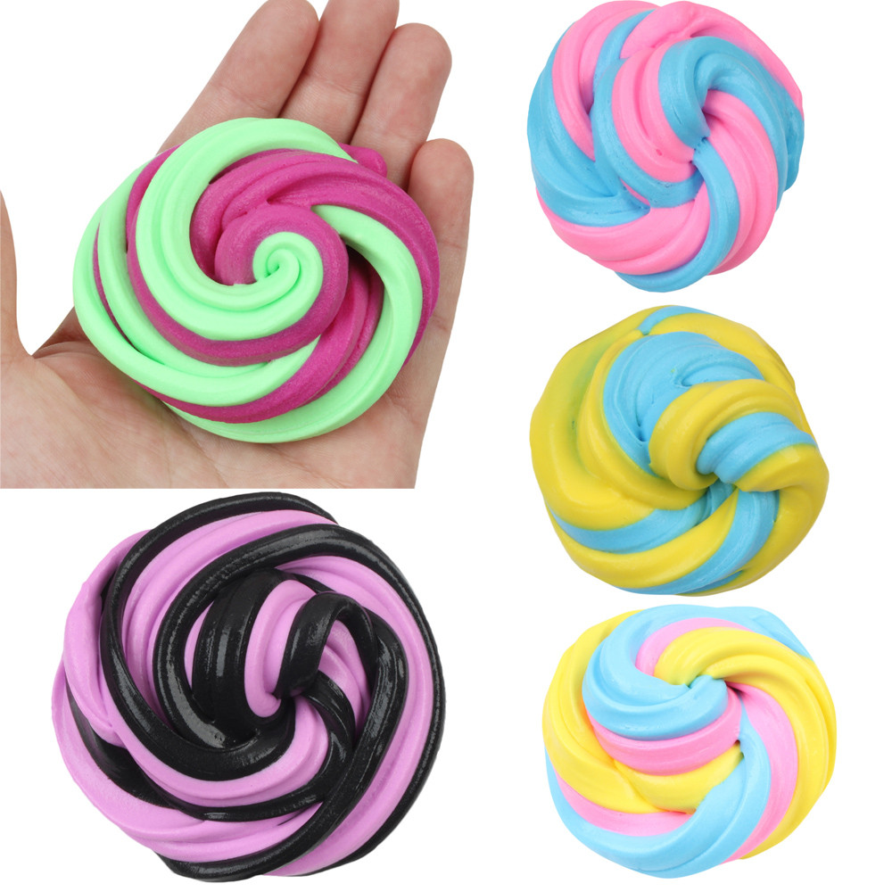 Color-matched Cotton Mud Soft Scented Toys Antistress Funny Kids Slime Clay Toy Charm Rising Squeeze  Stress Reliever Toys L0115