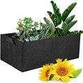 1 шт. тканевый мешок для выращивания цветов, мешок для посадки овощей, садовая кровать, квадратная садовая Кадка, горшок с ручками для растен...