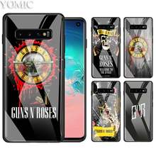 Guns N Roses Good Time Case for Samsung Galaxy A50 A30 S10e S9 S8 S10 Plus Note 9 10 Black TPU + Tempered Glass Phone Cover Bag(China)