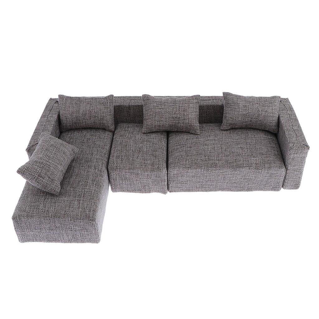 Linen Scene-Accessories Furniture Action-Figure Sofa-Model Mini 1/6-Soldiers Fabric
