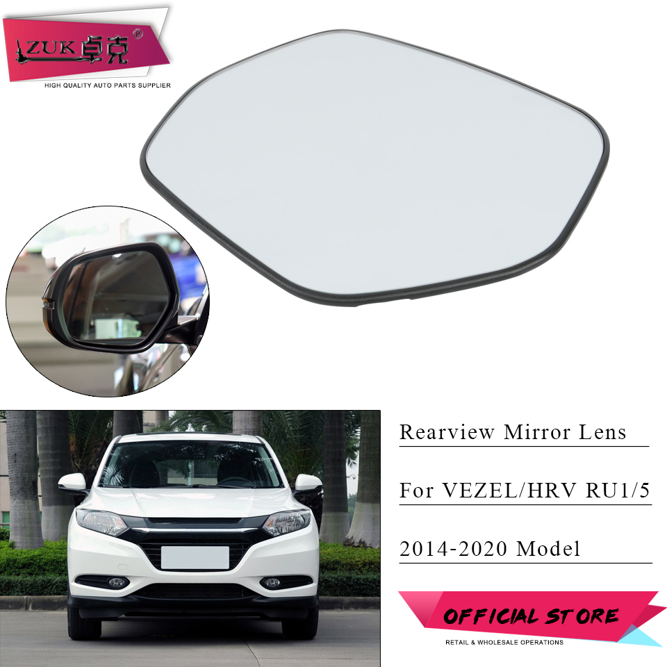 ZUK Left Right Heated Exterior Rearview <font><b>Mirror</b></font> Lens <font><b>Side</b></font> <font><b>Mirror</b></font> Glass For <font><b>HONDA</b></font> VEZEL <font><b>HRV</b></font> 2015 2016 2017 2018 2019 2020 RU1 RU5 image