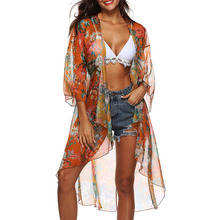 Summer Women Loose Boho Floral Blouse Printed Irre