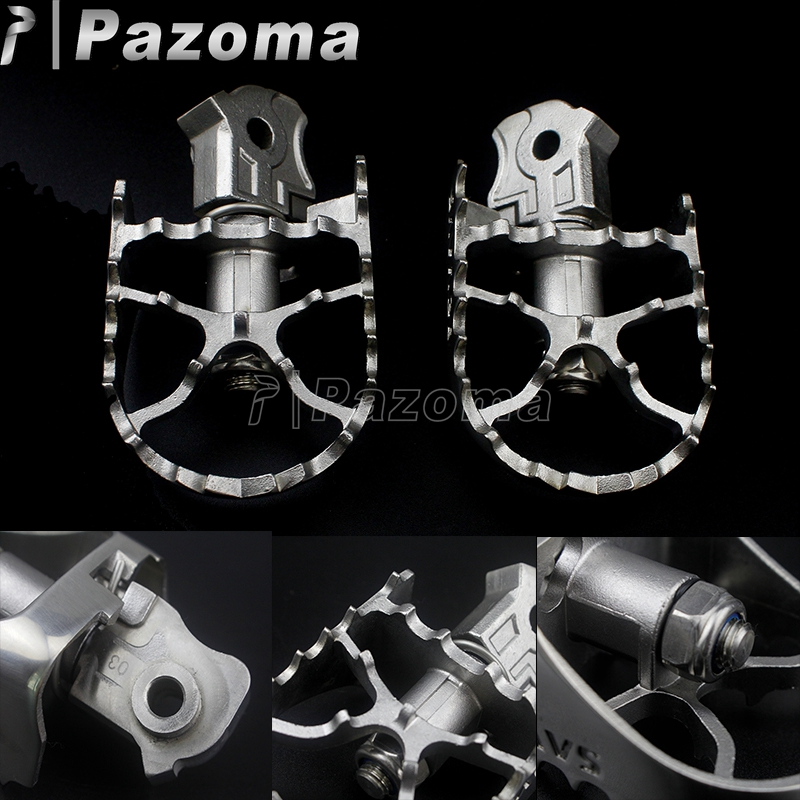 Stainless Steel Motorcycle Front Foot Pegs Footrest Pedals For BMW R NINE T 2014 2015 2016 2017 2018 Silver Motorbike Footpegs