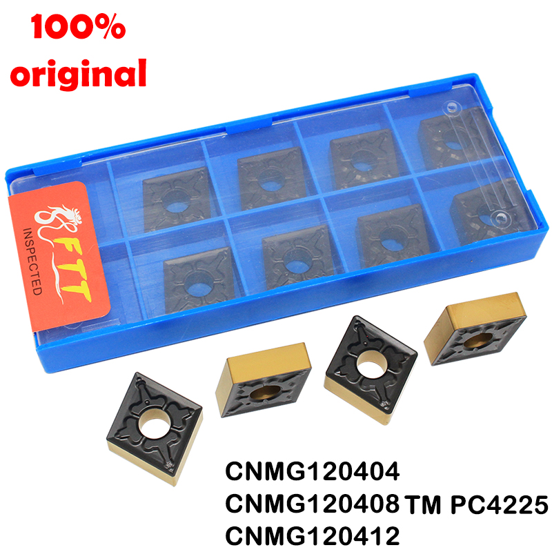100% Original CNMG120404 TM PC4225 External Turning Tool Carbide Insert Machining Steel Parts CNC Blade CNMG120408 CNMG 120412