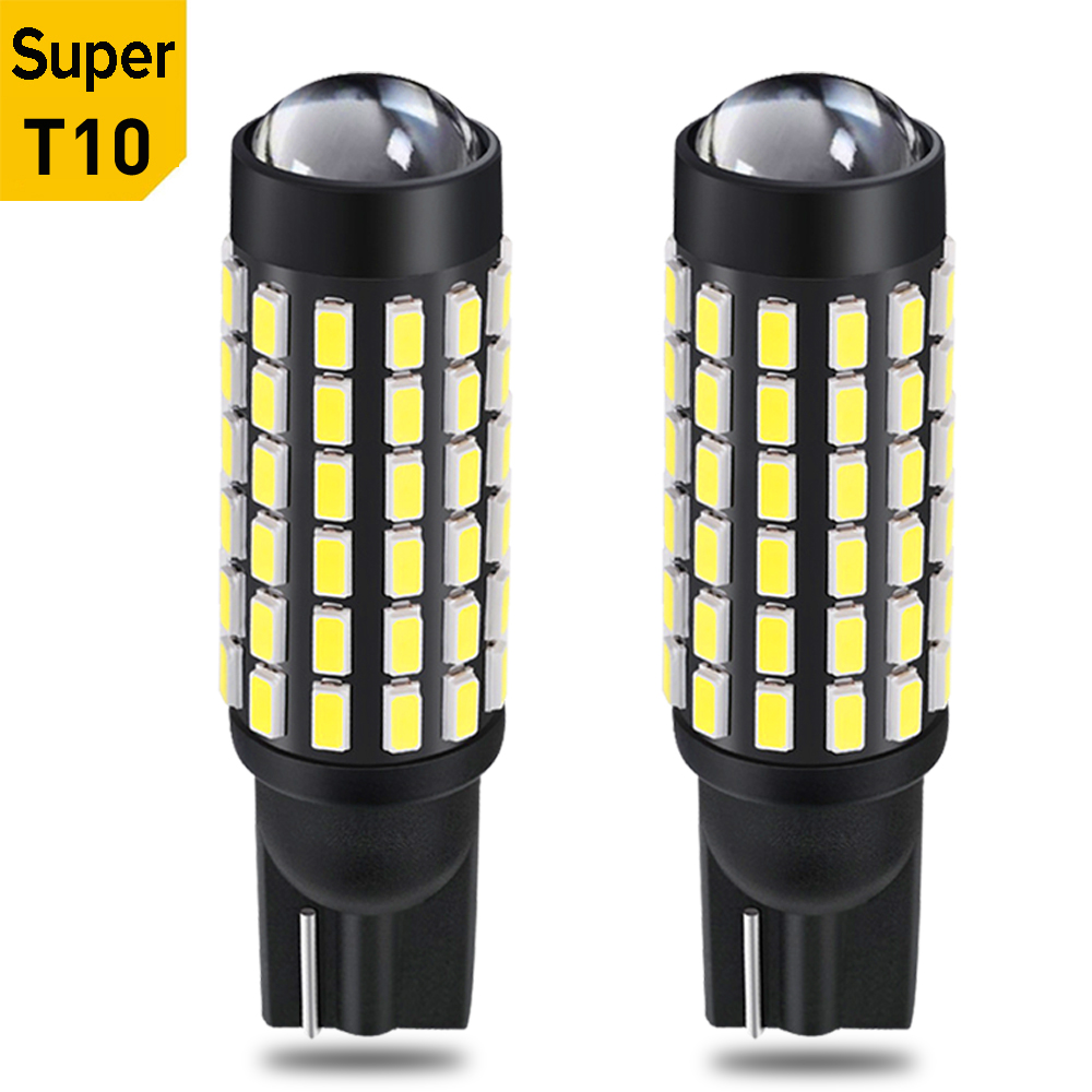 2X T10 W5W 194 168 2825 LED Bulbs Car Parking Wedge Light Interior Lamp For Ford Focus 1 2 3 Fiesta Mondeo Ecosport Kuga F-150