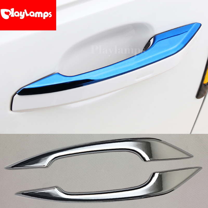 Stainless Steel Trim Door Handle Cover For Audi A4 S4 RS4 B9 A5 S5 RS5 2017 Q5 FY 2018 2019 Decorative Exterior Door Stickers