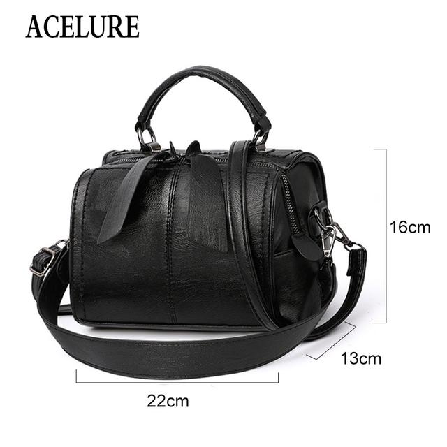 ACELURE Handbag Bolsa Feminina Brand New Fashion Women Tote Bag with A Pillow Bag High Quality PU Solid Shoulder Messenger Bags