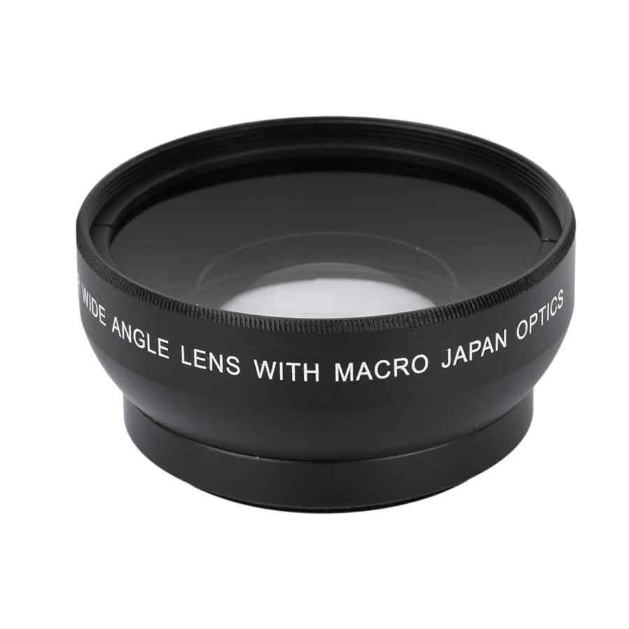 Camera lens with selfie lamp 0.45X Magnification High Definition Wide Angle Lens for 49mm Mount Camera phone lens