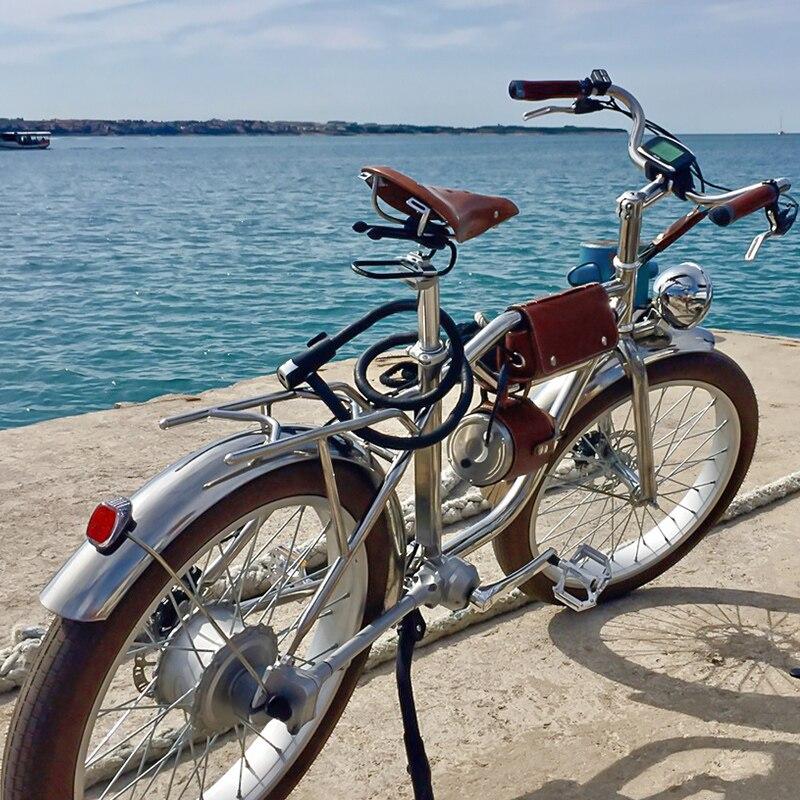 Elektrische bike 500W Elektrische Fett Bike Strand Retro Bike Cruiser Elektrische Fahrrad Retro Elektrische Bike Classic Vintage elektrische