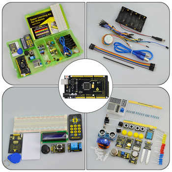 Updated Version Keyestudio Super Starter Kit With Mega2560R3 Board(USB serial Chip is CP2102)For Arduino Starter Kit +Tutorial