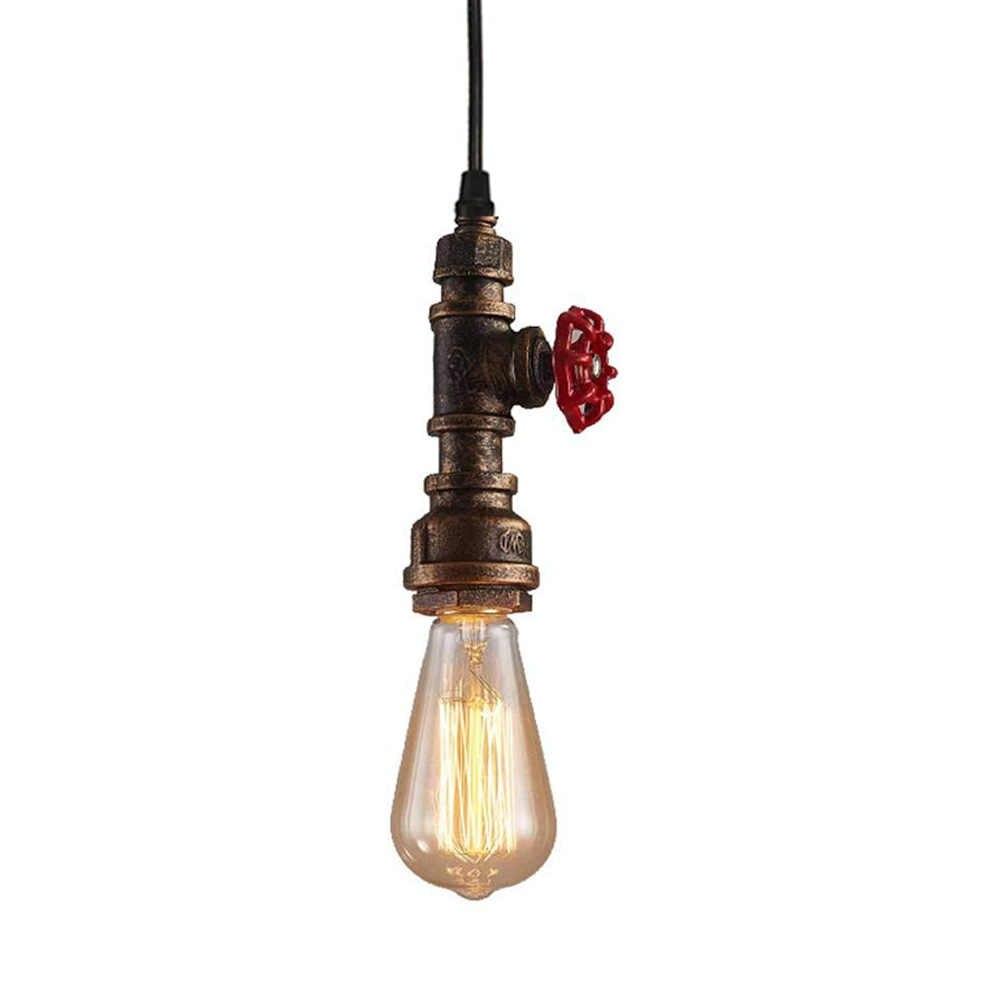 アンティークパイプ工業用ペンダント照明器具素朴なブロンズメタル用ホームバーベッドルームリビングルームダイニング