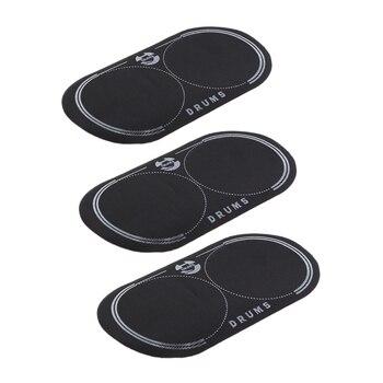 3 piezas de parche de tambor de bajo doble para cabezales de tambor accesorio negro
