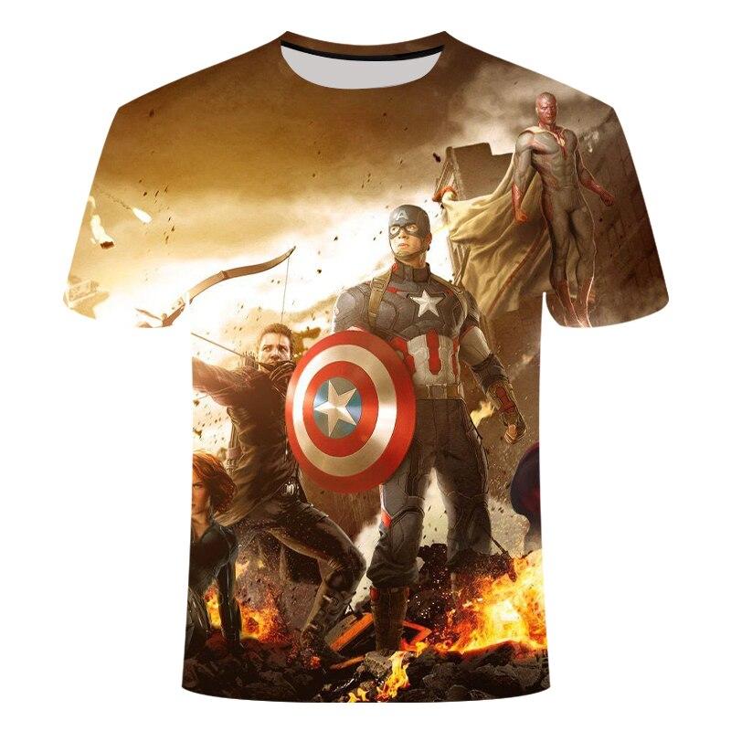 Новинка, футболка Marvel Avengers 4 final, футболка с 3d принтом супергероя Америки, футболка для косплея, Мужская Новая летняя модная футболка - Цвет: TX1493