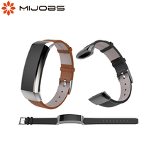 Mijobs Strap für Huawei Band 2 Pro B29 B19 Band 2 Zubehör Leder Handgelenk Smart Armband Multifunktions Smart Uhr Armband