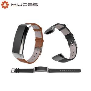Image 1 - Mijobs pasek do Huawei Band 2 Pro B29 B19 zespół 2 akcesoria skórzany nadgarstek inteligentna bransoletka wielofunkcyjny inteligentny zegarek opaska