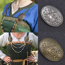 Norse Medieval Scarf Pin Viking Shield Symbol Brooch Oval Shawl Sweater Pin Valentines Day Christmas Gift for Women Men