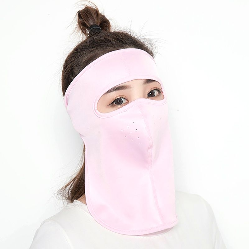 Women Full Face Mask UV Protection Sun Shade Breathable Masks Ice Silk Protector Autumn WInter Windproof Masks