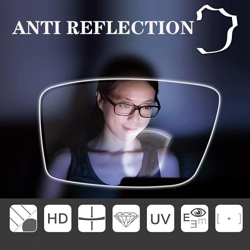 CUBOJUE 1.74 indice résine lunettes lentille asphérique ultra-mince Anti-rayonnement bleu Prescription lentille myopie/hyperopie/presbytie - 6