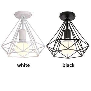 Image 2 - リビングルーム凹型天井照明 E27 北欧のミニマルパーラーシャンデリア夢のような HangLamp 寝室レトロ吊りランプ