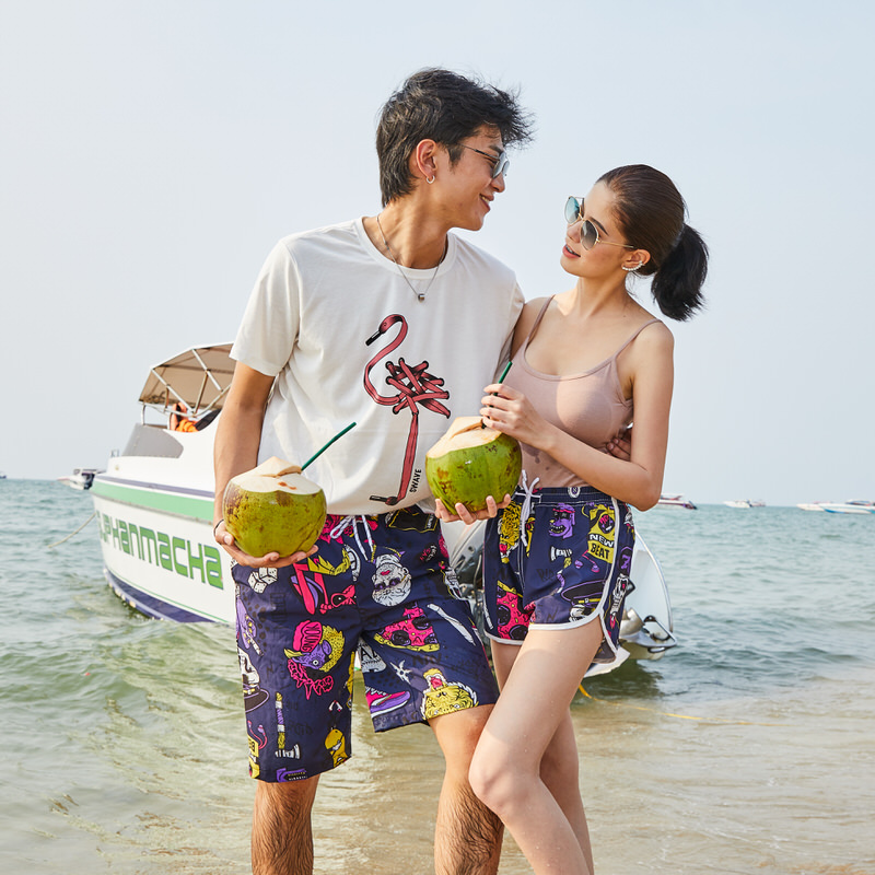 WuTang Men Beach Shorts Quick Dry Swim Trunks